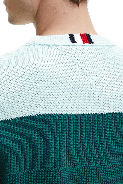 Sveter - Tommy Hilfiger STRUCTURED BLOCK STRIPE SWEATER viacfarebný
