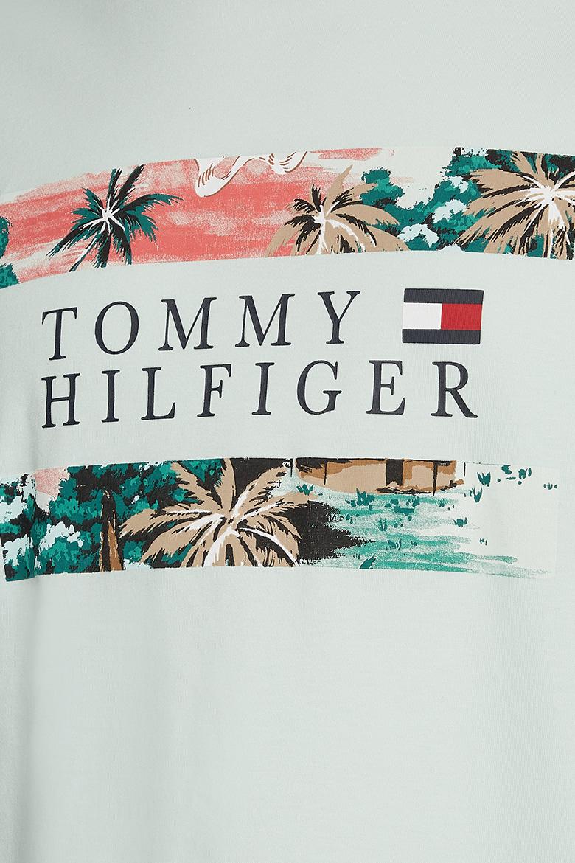 Tričko - HAWAIIAN FLAG TEE svetlozelené