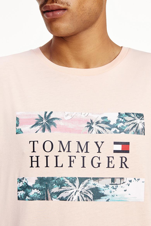 Tričko - HAWAIIAN FLAG TEE broskyňové