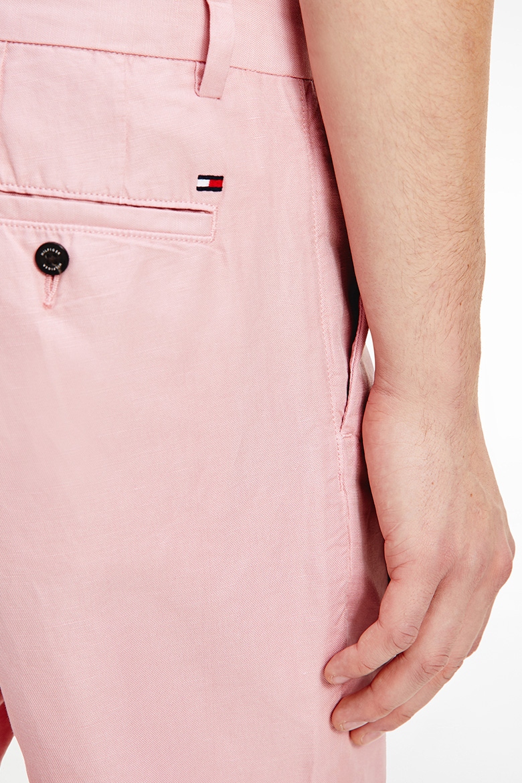 Krátke nohavice - BROOKLYN ESSENTIAL LINEN SHORT ružové
