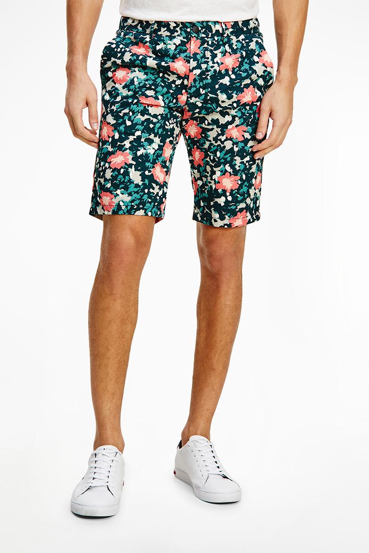 Krátke nohavice - HMT FLEX FLORAL CAMO SHORT zelené