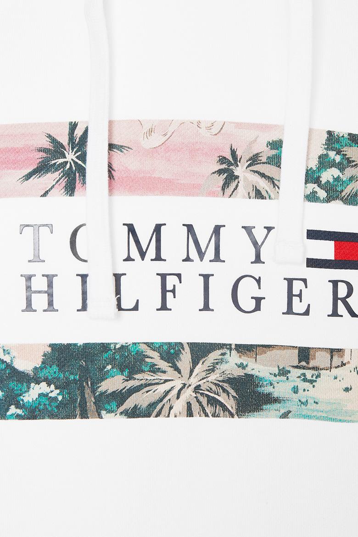 Mikina - HAWAIIAN FLAG HOODY biela