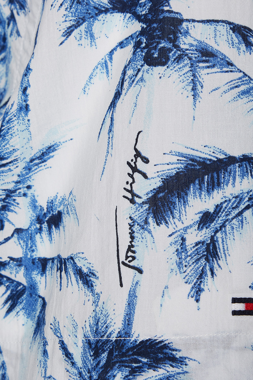 Košeľa - LARGE WATER COLOR PALM SHIRT S/S vzorovaná