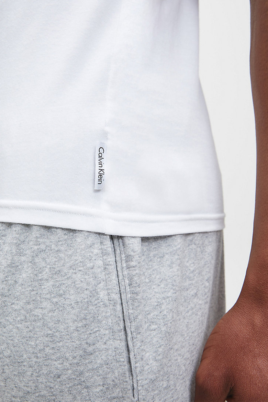 Tričko - CALVIN KLEIN 2P S/S CREW NECK biele