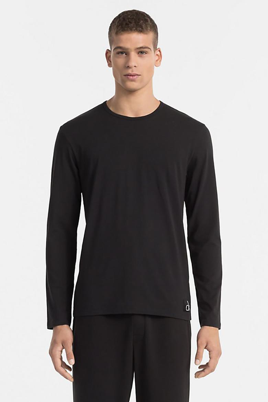 Tričko - CALVIN KLEIN L/S CREW NECK čierne