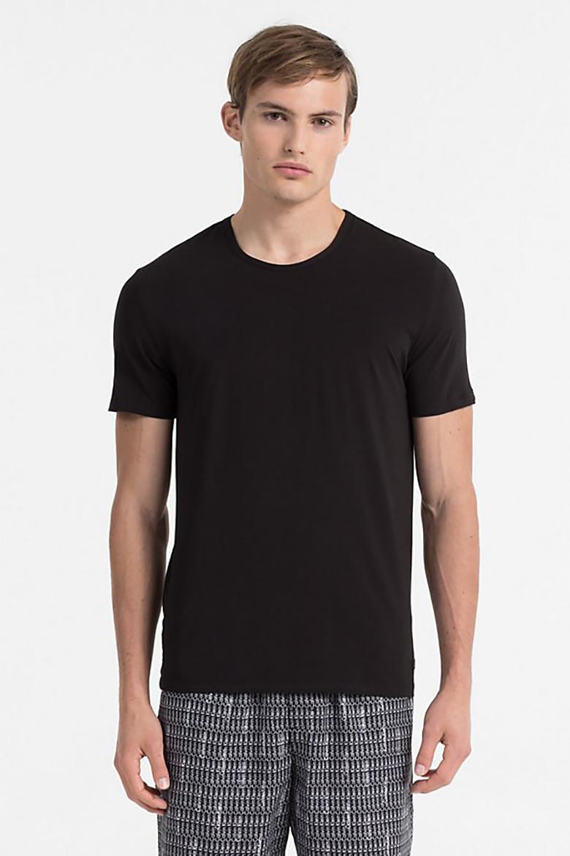 Tričko - CALVIN KLEIN S/S CREW NECK čierne