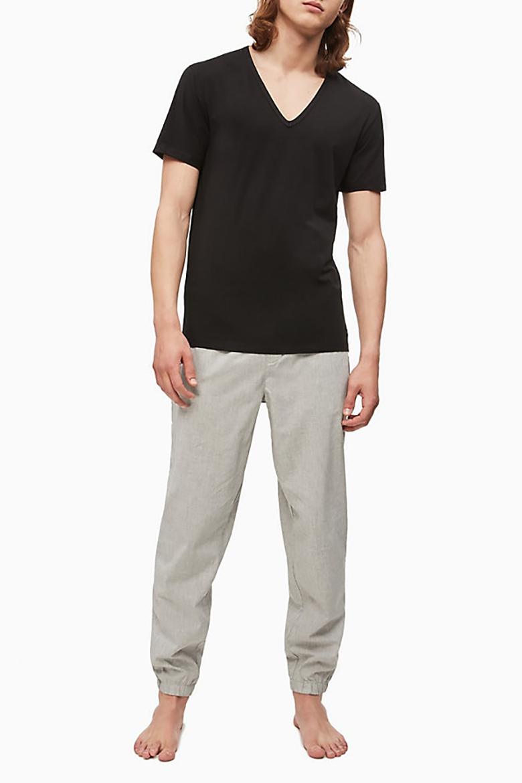 Tričko - CALVIN KLEIN S/S V NECK čierne