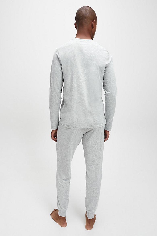 Tričko - CALVIN KLEIN L/S CREW NECK sivé