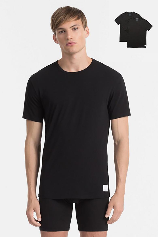 Tričko - dvojbalenie - CALVIN KLEIN 2P S/S CREW NECK T SLIM FIT čierne