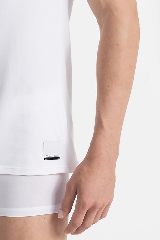 Tričko dvojbaelnie - CALVIN KLEIN 2P S/S CREW NECK T SLIM FIT biele