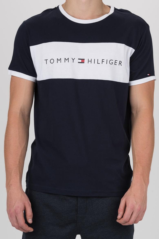 Tričko - TOMMY HILFIGER CN SS TEE LOGO FLAG čierne