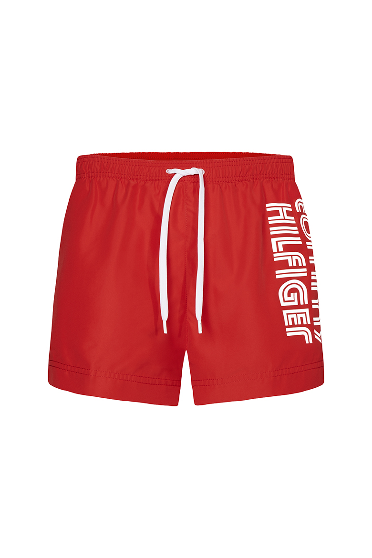 Pánske plavky - SHORT DRAWSTRING červenej farby