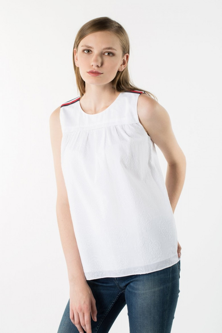 Top - TOMMY HILFIGER ISABELLA COTTON TOP NS