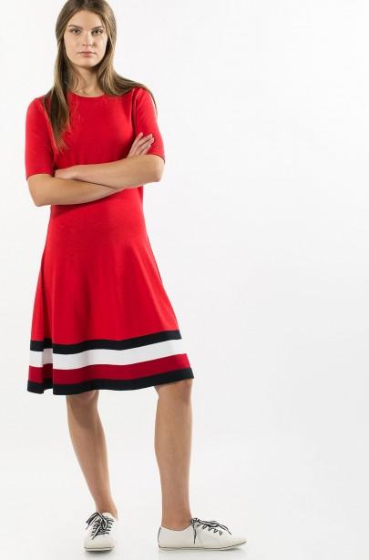Šaty - TOMMY HILFIGER ADANA TIPPING C-NK DRESS ... 4056fcfbce