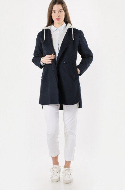 ... Kabát - TOMMY HILFIGER IVO DF HOODED WOOL BLEND COAT 58d5db834fb