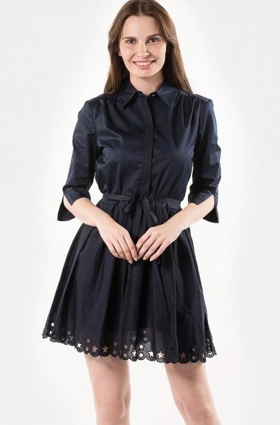 Šaty - TOMMY HILFIGER HAYETTE DRESS 1 2 SL tmavomodrá ... 37f0eeb34de