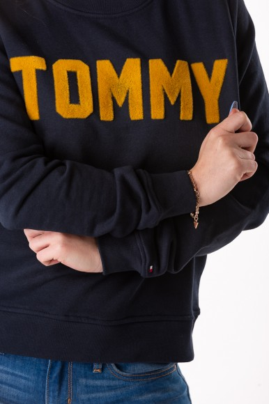 Mikina - TOMMY HILFIGER MARI C-NK SWEATSHIRT LS tmavomodrá