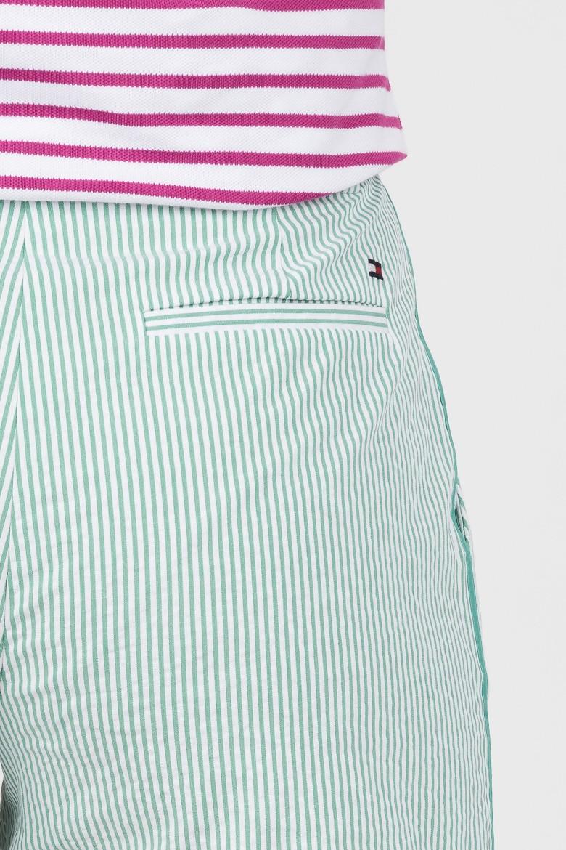 Krátke nohavice - TOMMY HILFIGER MOLLY SHORT zeleno-biele