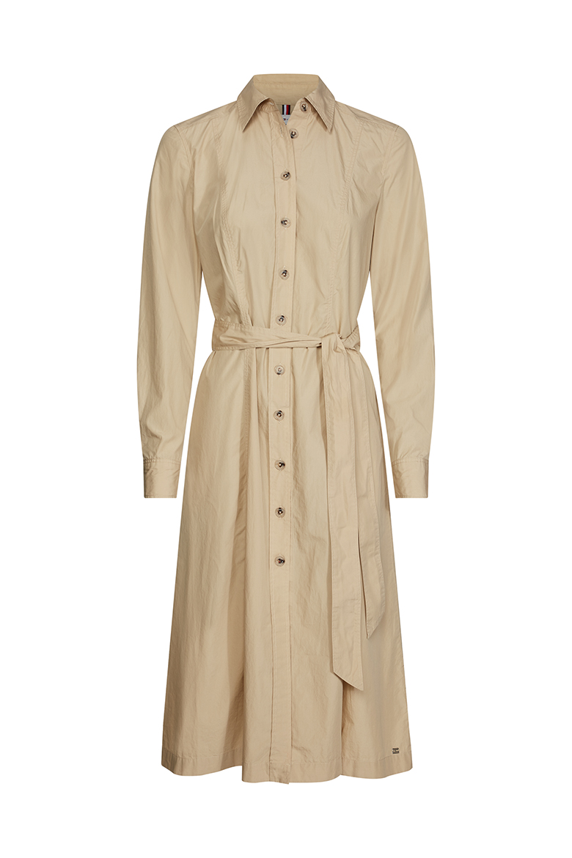 Šaty - LEA DRESS LS bežové