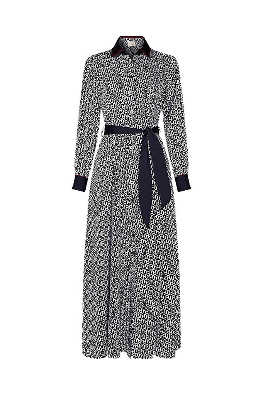 Šaty - ICON TILDA MAXI SHIRT DRESS LS modré