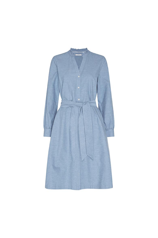Šaty - RECYCLED OXFORD SHIRT DRESS LS svetlomodré