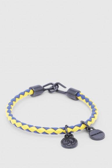 Náramok - DIESEL S.P.A.,BREGANZE ASANTY BRACELET  modro-žltý