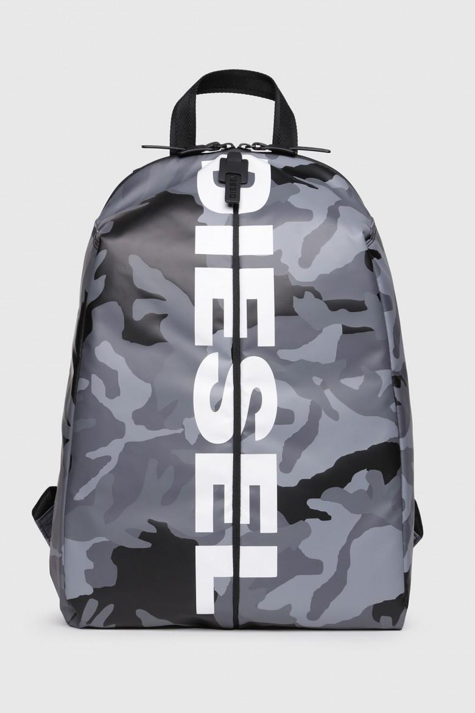 Ruksak - DIESEL S.P.A.,BREGANZE BOLDMESSAGE FBOLD BACK  backpa šedý
