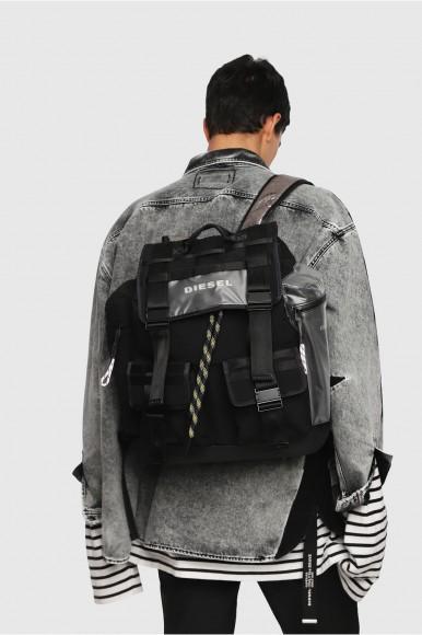 Ruskak - DIESEL S.P.A.,BREGANZE CAGE MCAGE BACK  backpack čierny