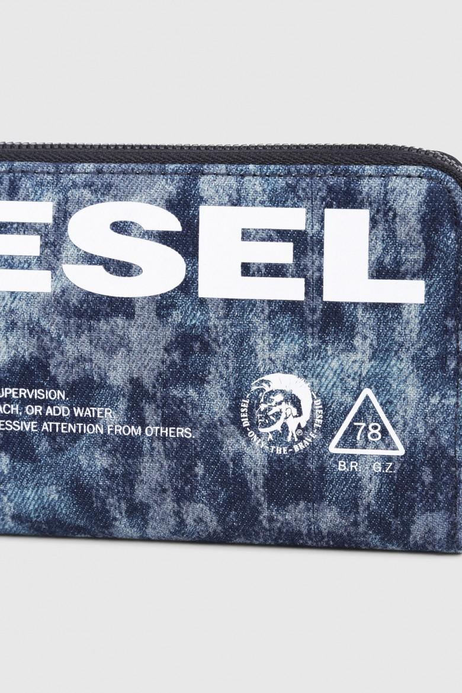 Peňaženka - DIESEL S.P.A.,BREGANZE THISWALLETISNOTATOY 24 ZIP  wa modrá