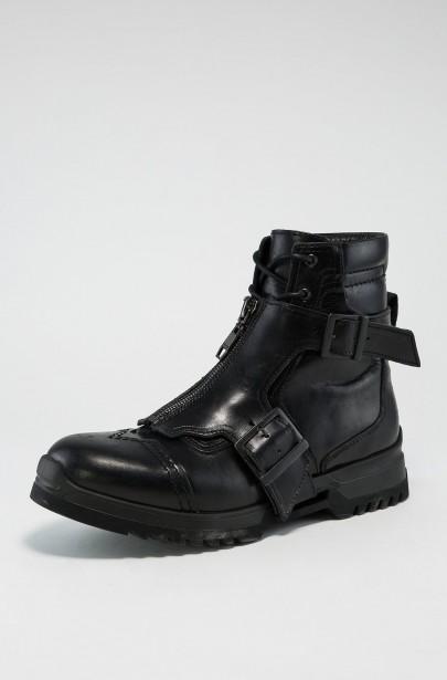 Členkové kožené topánky Diesel EDGEKORE D