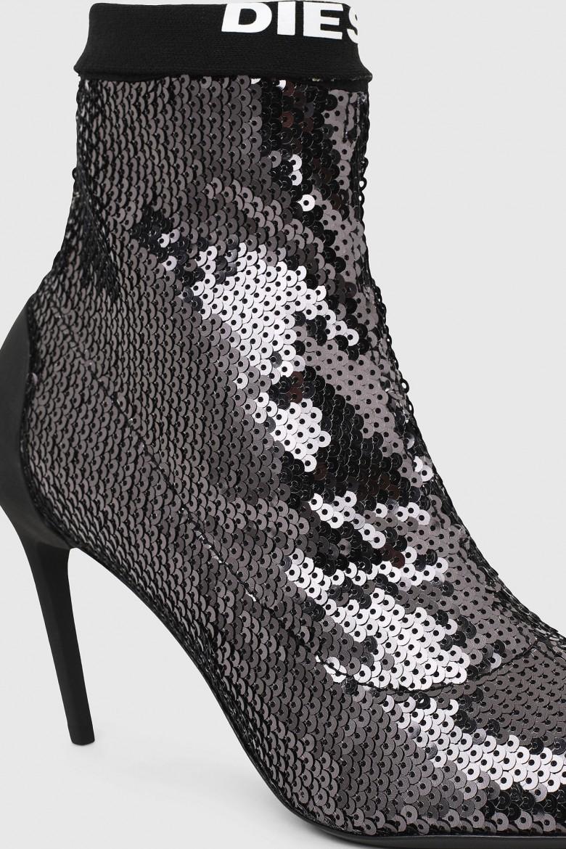Členkové topánky - SLANTY  DSLANTY MASM  boots metalicky sivé